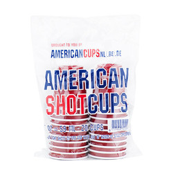 Mini Red Shot Cups - 59ml - Rood  (20st)