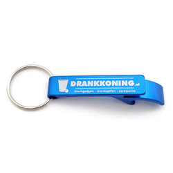 DrankKoning Bieropener Sleutelhanger - Blauw