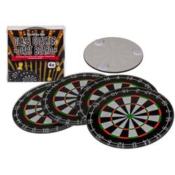 Glazen Onderzetters - Dart Board (4st)