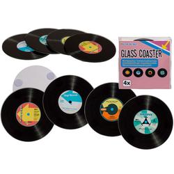 Glazen Onderzetters - LP Plaat (4st)