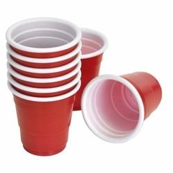 Mini Red Shot Cups - 59ml - Rood  (10st)