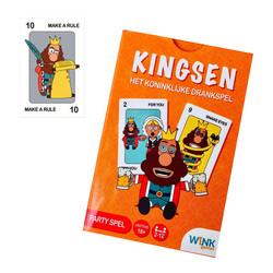 Kingsen - Drankspel kaarten - In exclusieve spelvorm